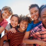 Collection of kids of different races