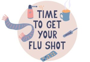 time to get your flu shot graphic